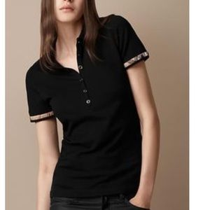Burberry Brit black  rimmed sleeve polo shirt  m